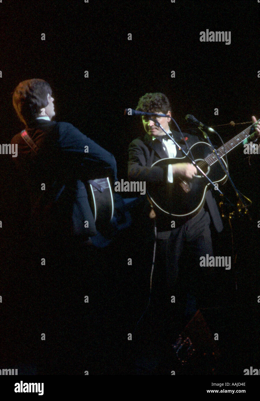 Die Everly Brothers im Konzert in 1985 Stockbild
