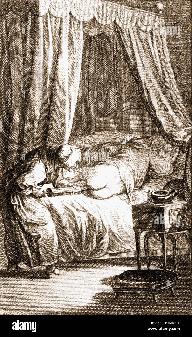 Der Einlauf, aus dem 19. Jahrhundert drucken