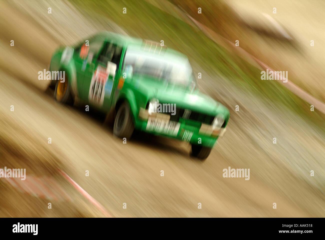 Ford Escort classic Rallye Rallyeauto Rallye of Straße Geschwindigkeit schnell Schlamm Fahrer Sponsor Sponsoring männliche Interesse Dalby Forest ich Stockbild
