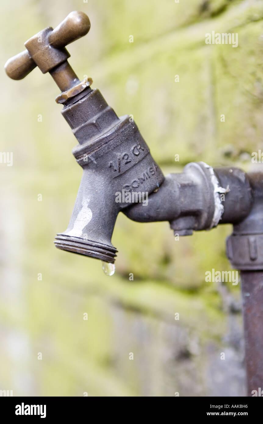 Undichten Wasserhahn Schlauch Rohr Verbot Verschwendung Wasser