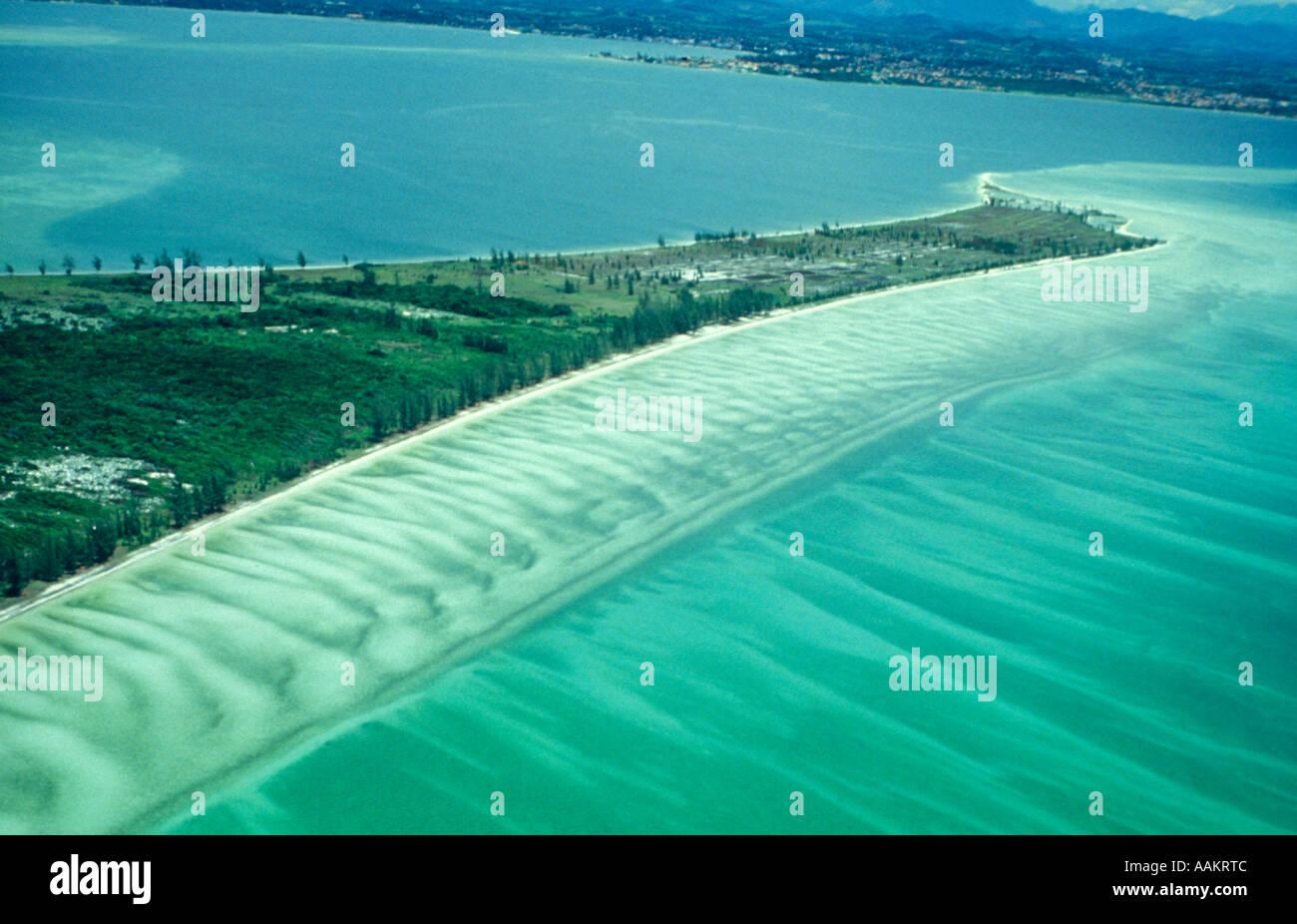 Geographie - Sandbank (Restinga) - Ponta Acaíra - Cabo Frio, Bundesstaat Rio De Janeiro, Brasilien. Stockbild
