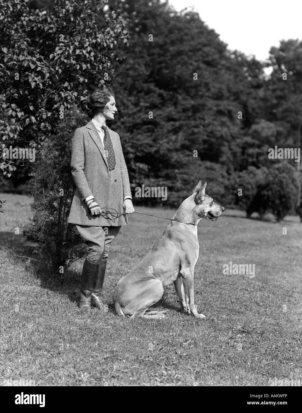 1920s 1930s Profil Portrait Elegante Frau Mit Tweed Reiten