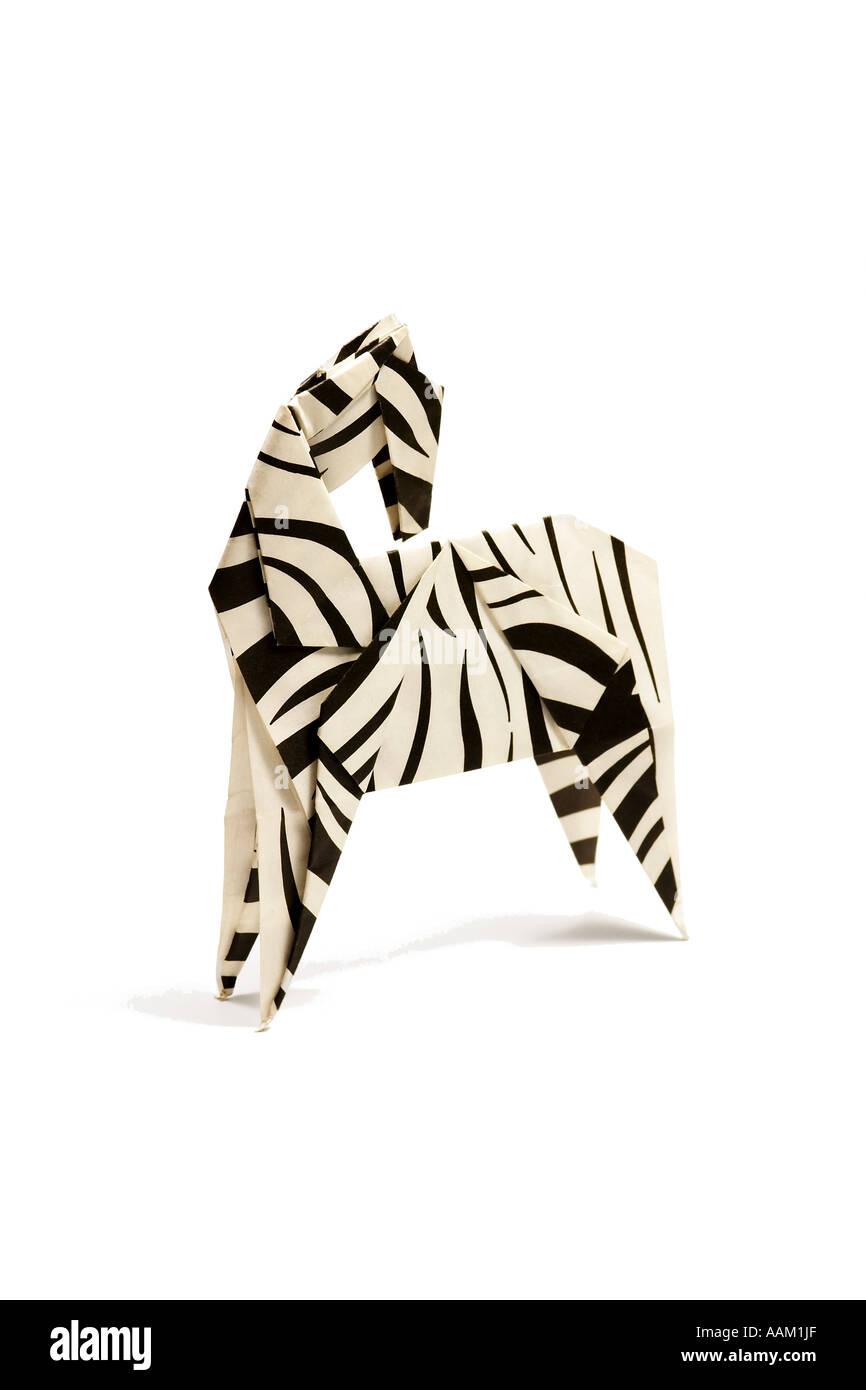 Origami-Zebra Stockbild