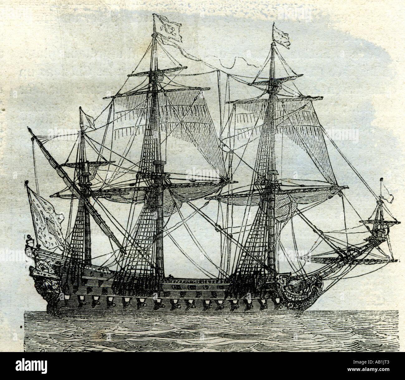 Schiff Le Soleil Royal Vereinigtes Königreich Stockbild