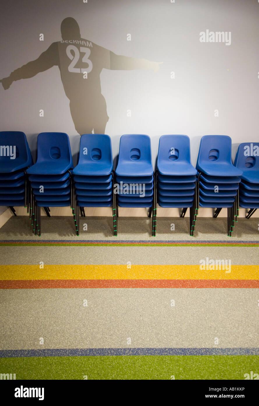 David Beckham Sport Akademie Bodengrafiken Stockbild