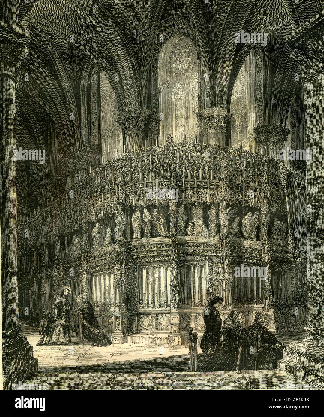 Chartres Kathedrale Cathedrale Frankreich Stockfoto
