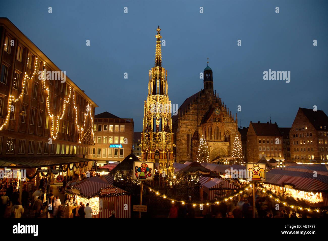 Deutschland Bayern Bayern Nürnberg Nürnberg Weihnachten Markt ...