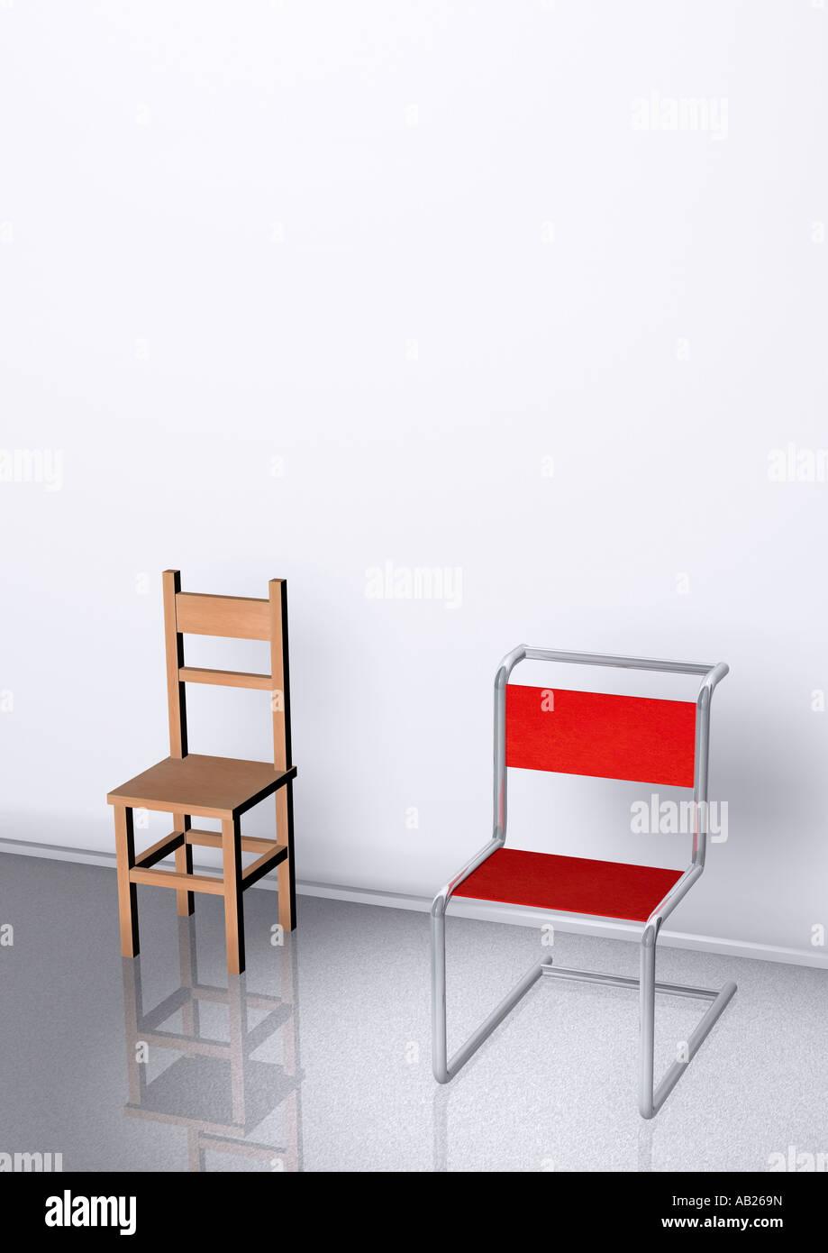 einfach und von Arten 2 komfortabel 2 Arten Stühle Stühlen CoexdWBr