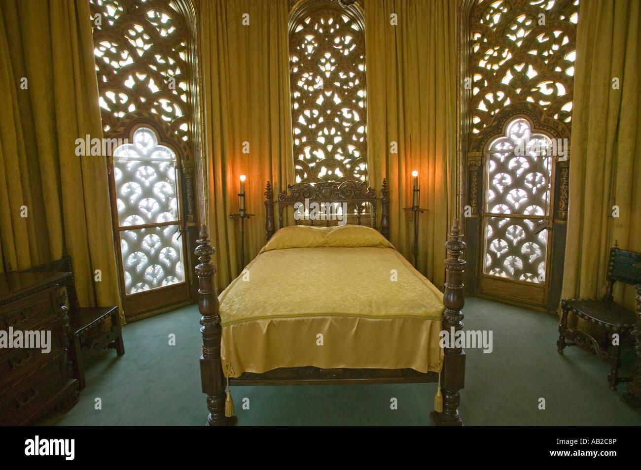 william randolph hearst s schlafzimmer im hearst castle amerika s