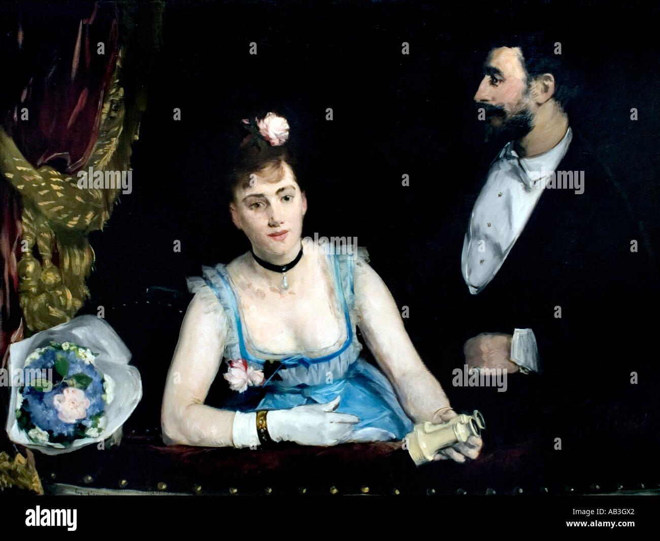 Eva Gonzales-A-Box auf der Théâtre des Italiens - A-Box am Theatre des Italiens 1874 Édouard Manet 1832 ? 1883 Frankreich Französisch Stockbild