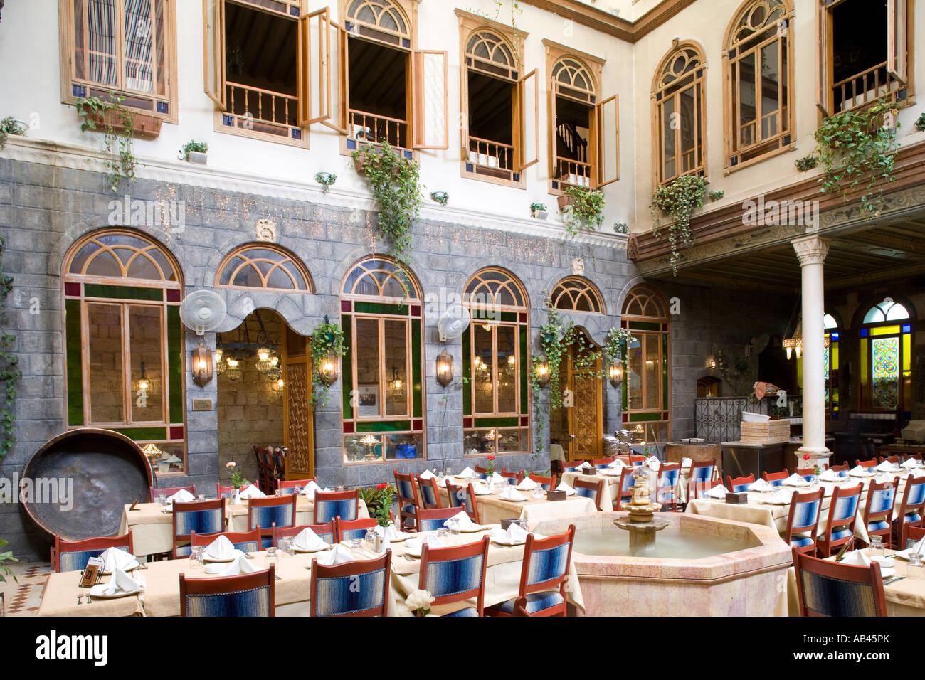 Innere des Al Khawali ein Restaurant in einem der schönen ...