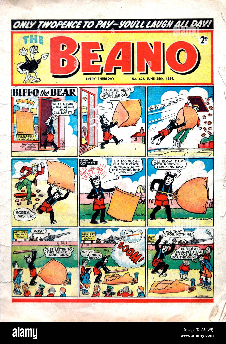 Beano Comic 26. Juni 1954 nur zu redaktionellen Zwecken Stockbild