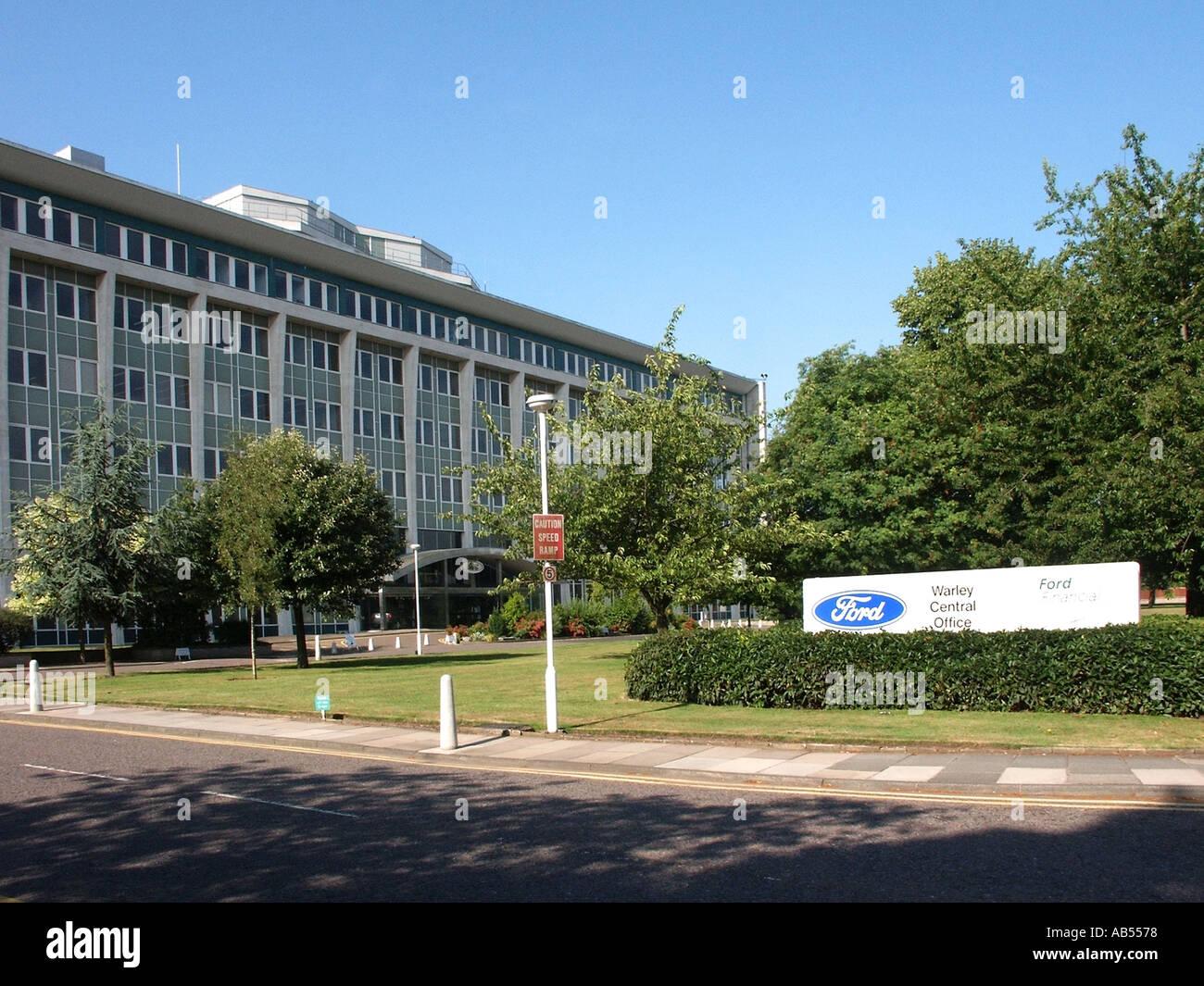 Bürogebäude der Ford Motor Company Warley Zentrale Brentwood Essex England Großbritannien Stockbild