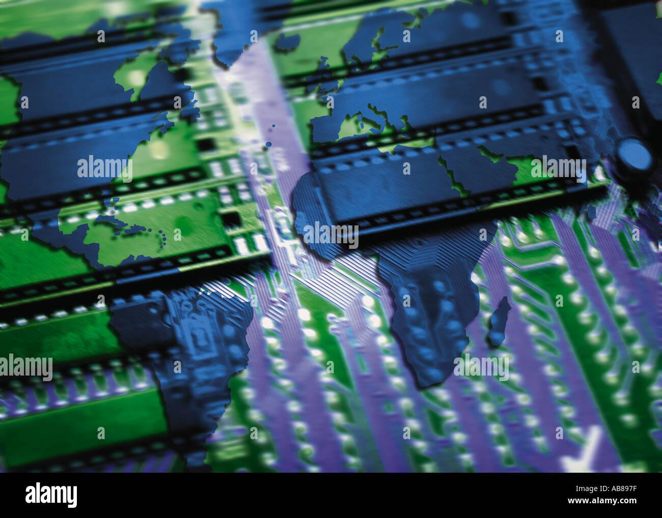 Global electronics Stockbild