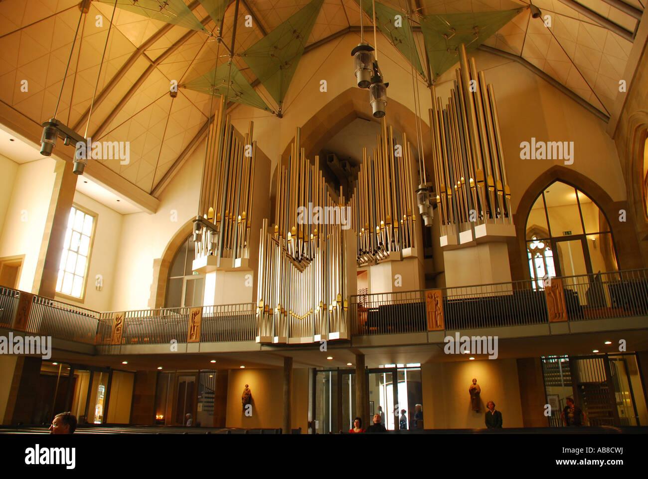 Renovierten Interieur Mit Orgel Stiftskirche Stuttgart Baden