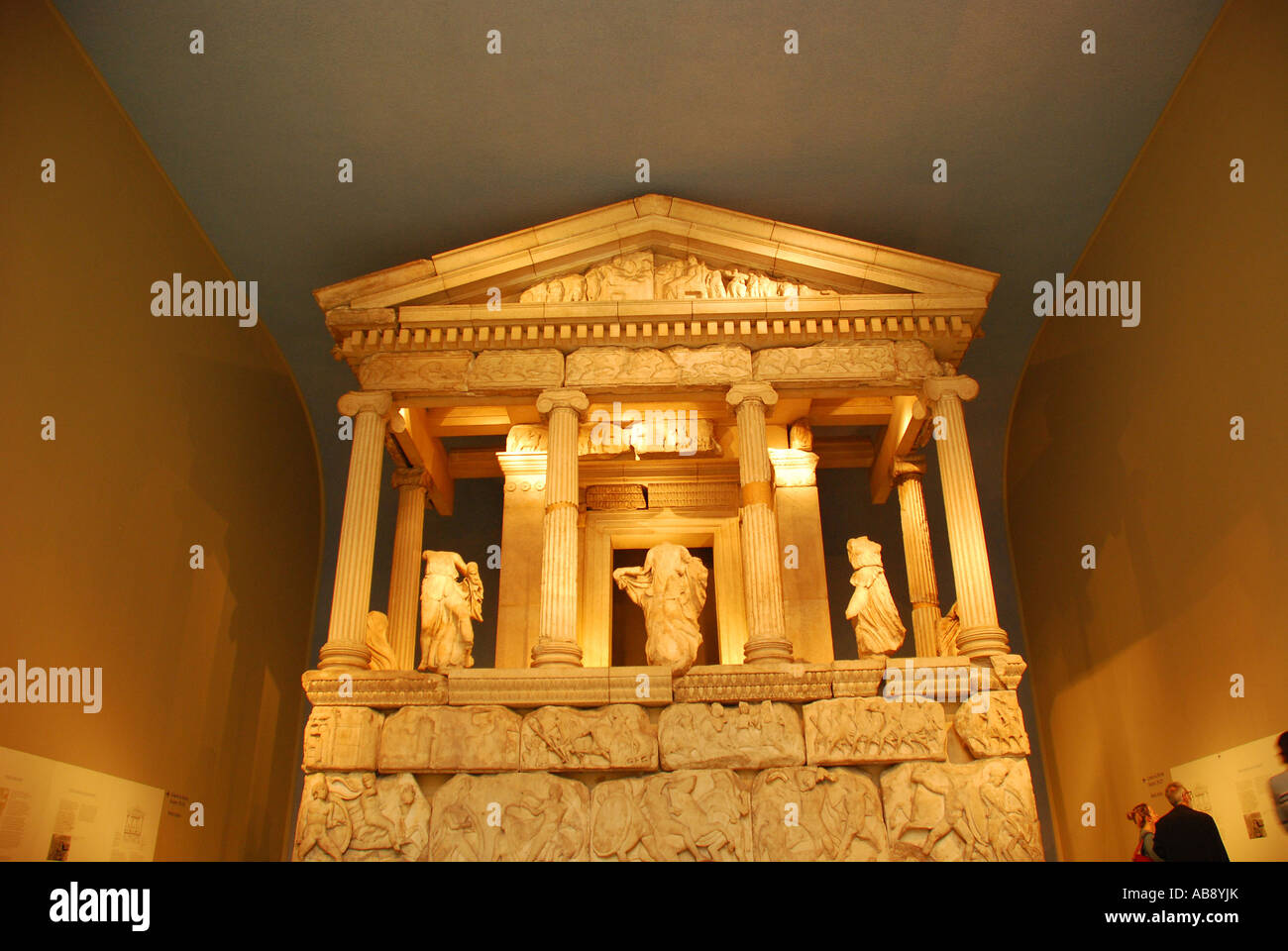Nereid Denkmal British Museum London UK Stockbild