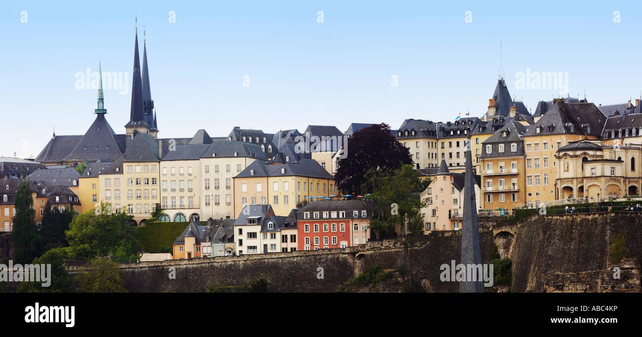 Luxemburg, Luxemburg, Europa mit der Kathedrale Notre Dame auf die skyline Stockbild