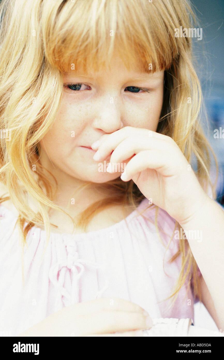 Mädchen weint Stockfoto
