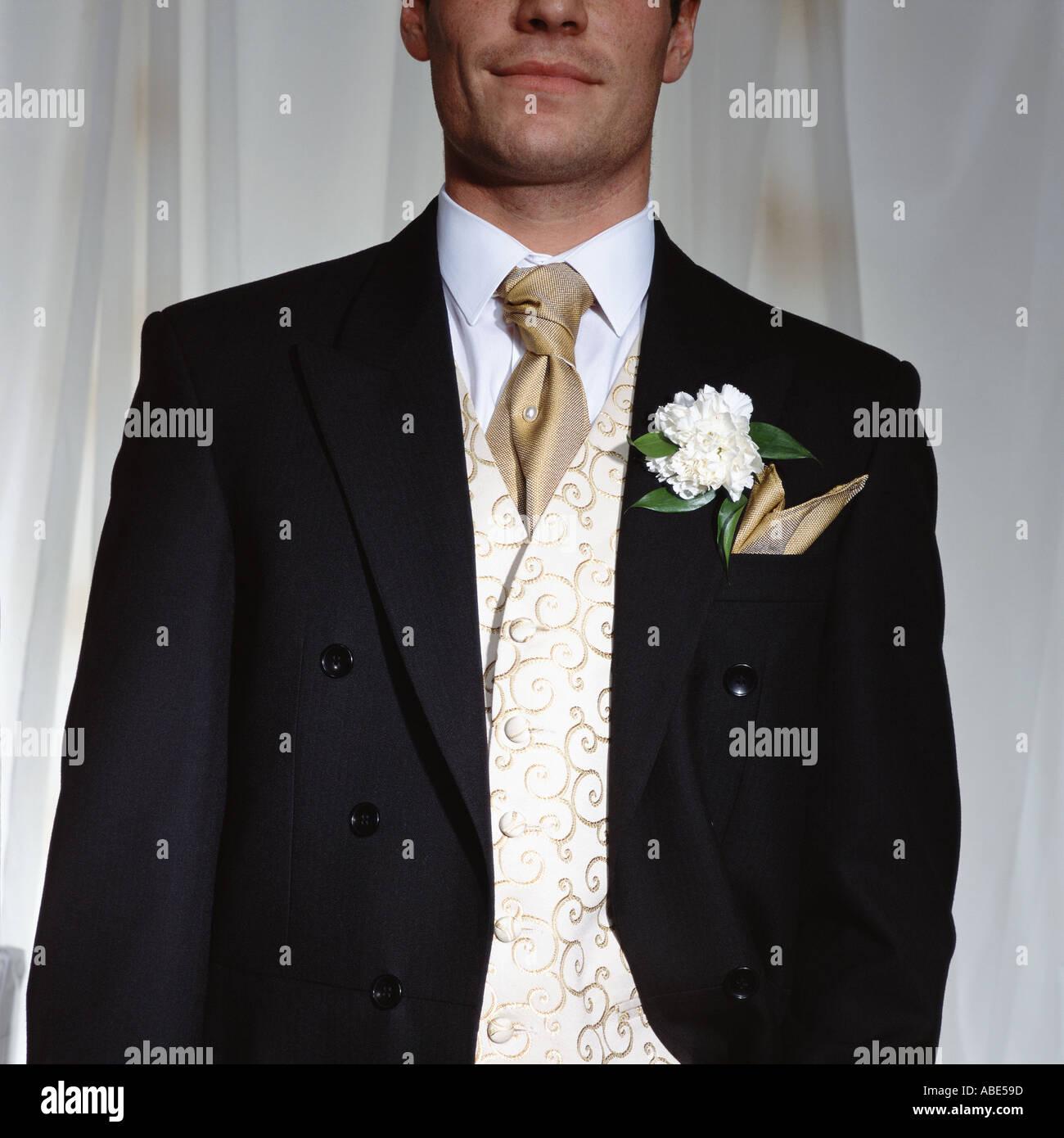 Ein eleganter Bräutigam Stockbild