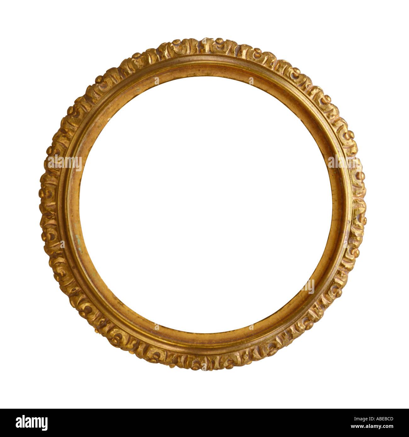 Eine Runde Gold vergoldet Antik dekorativen Bilderrahmen Stockfoto ...