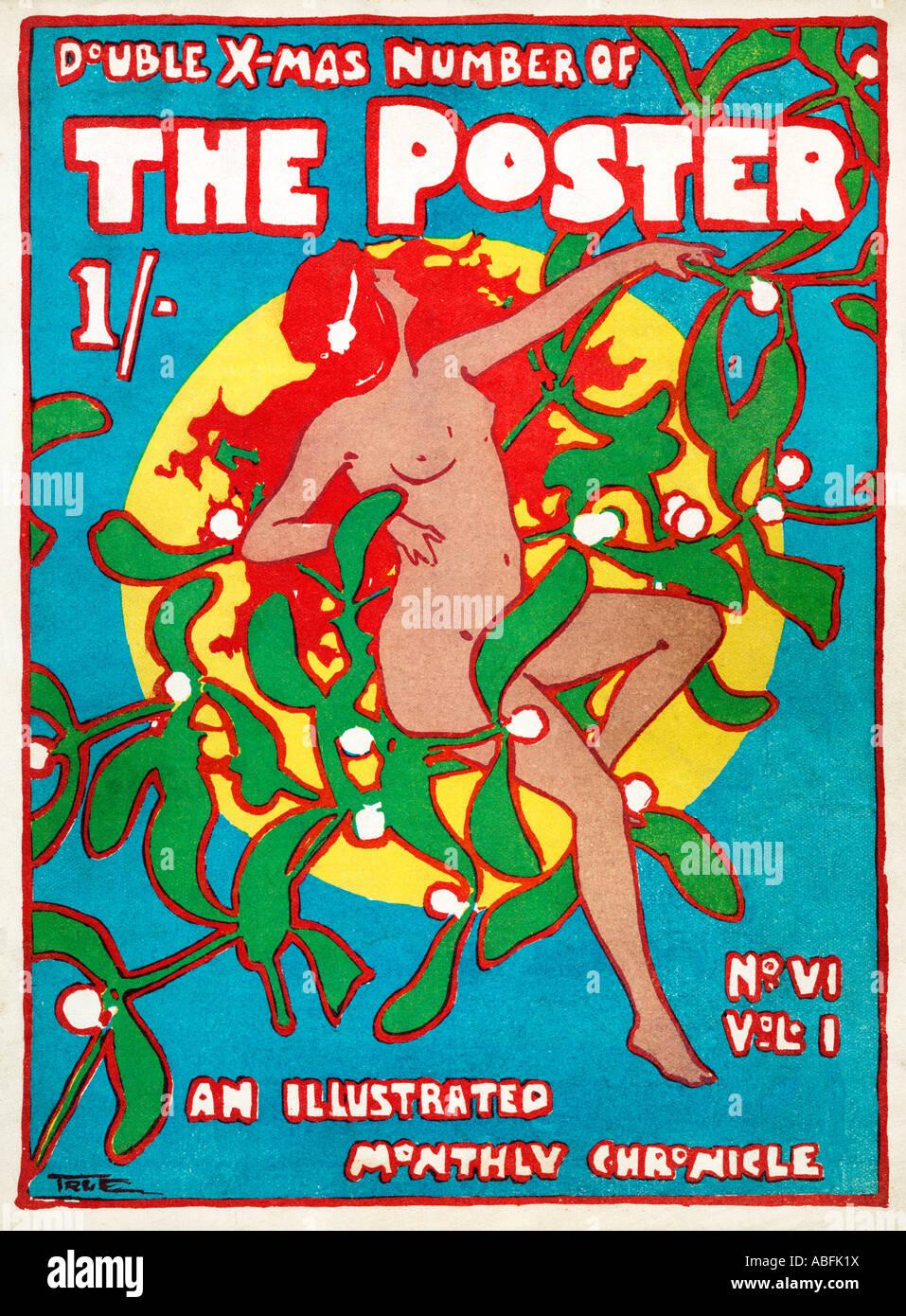 Das Plakat Weihnachten 1898 Cover illustriert von wird der englische grafischen Sammler Zeitschrift wahr. Stockbild