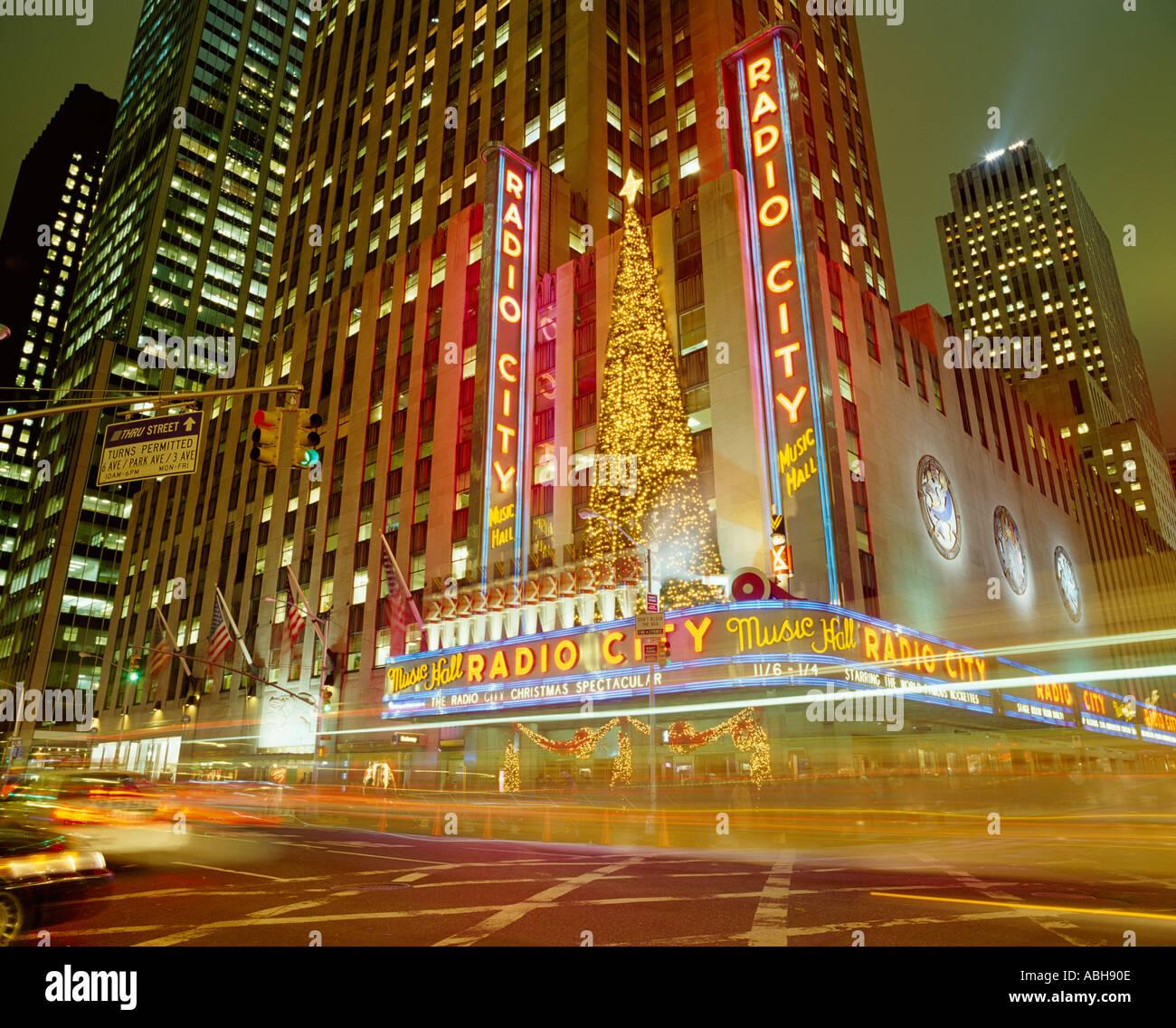 Radio City Music Hall Christmas New York USA Stockfoto, Bild ...