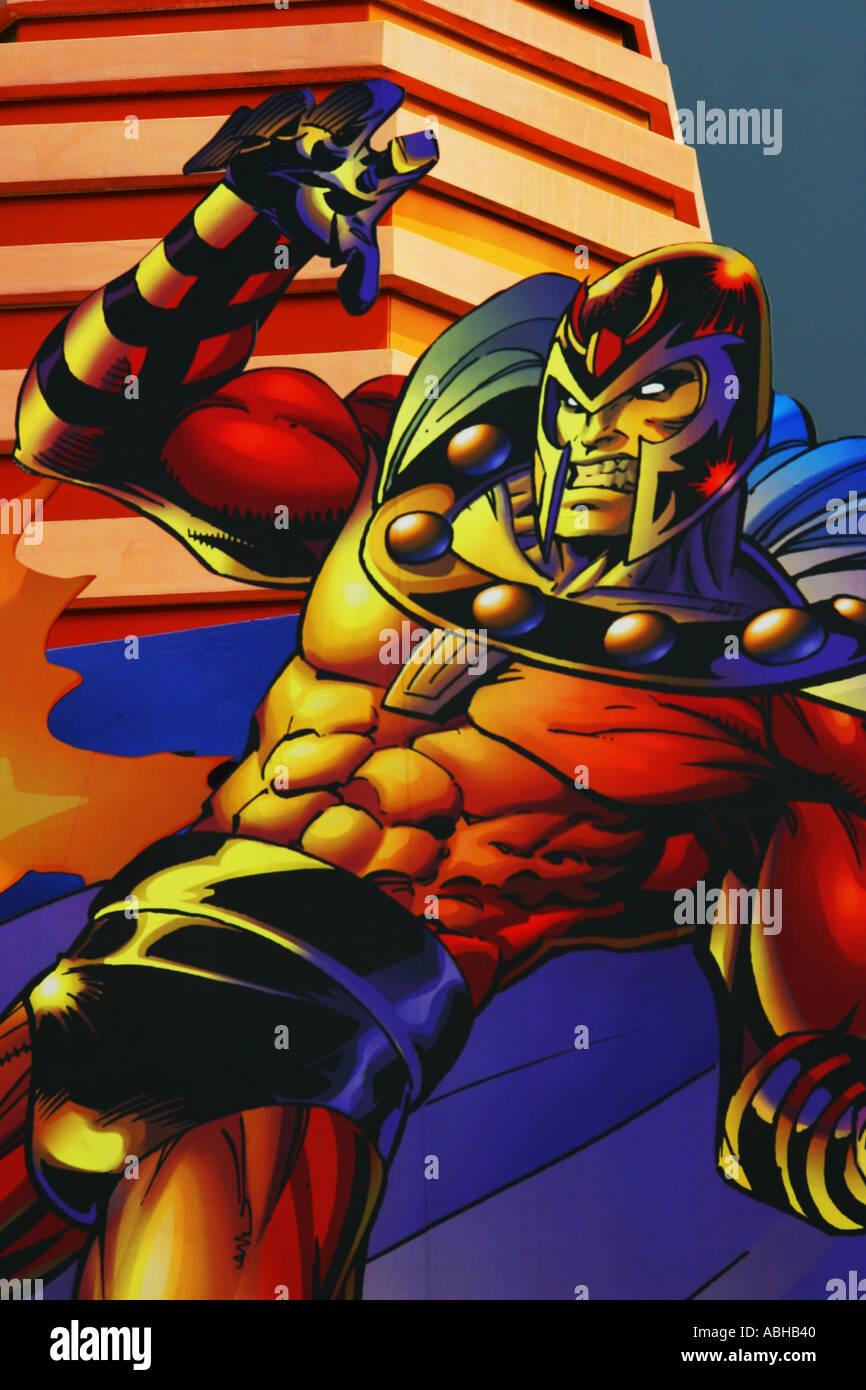Super-Helden Karikatur Comic-Strip zeichnen Stockbild