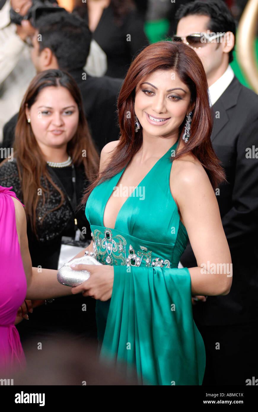Shilpa Shetty in 2007 Bollywood Awards in Sheffield, Großbritannien Stockbild