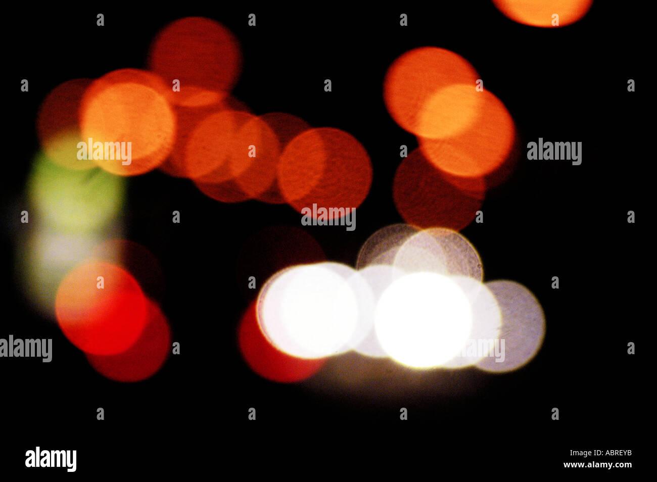 Autolichter verwischen Stockbild