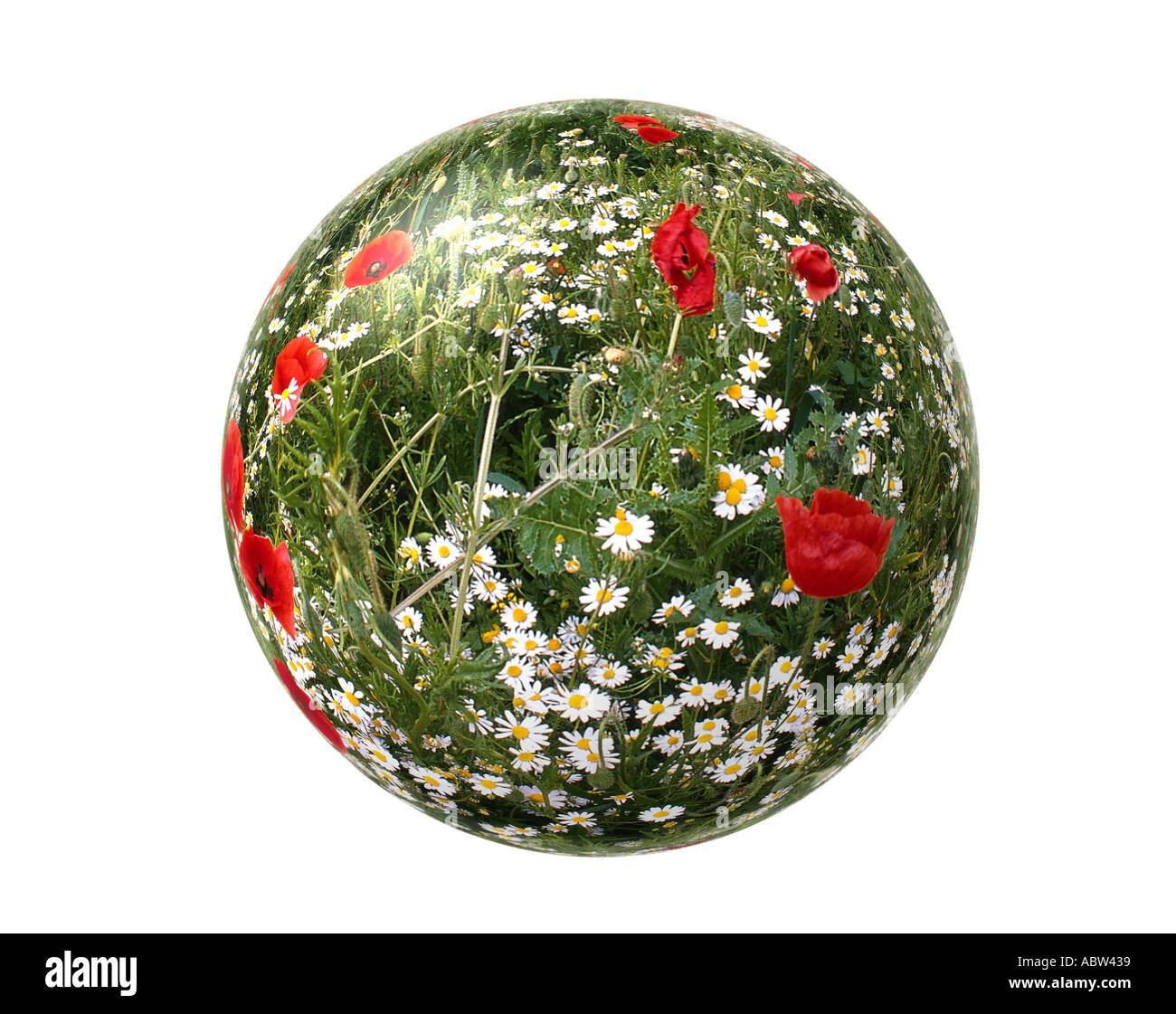 ÖKOLOGISCHEN Konzept: Unsere Welt Stockbild