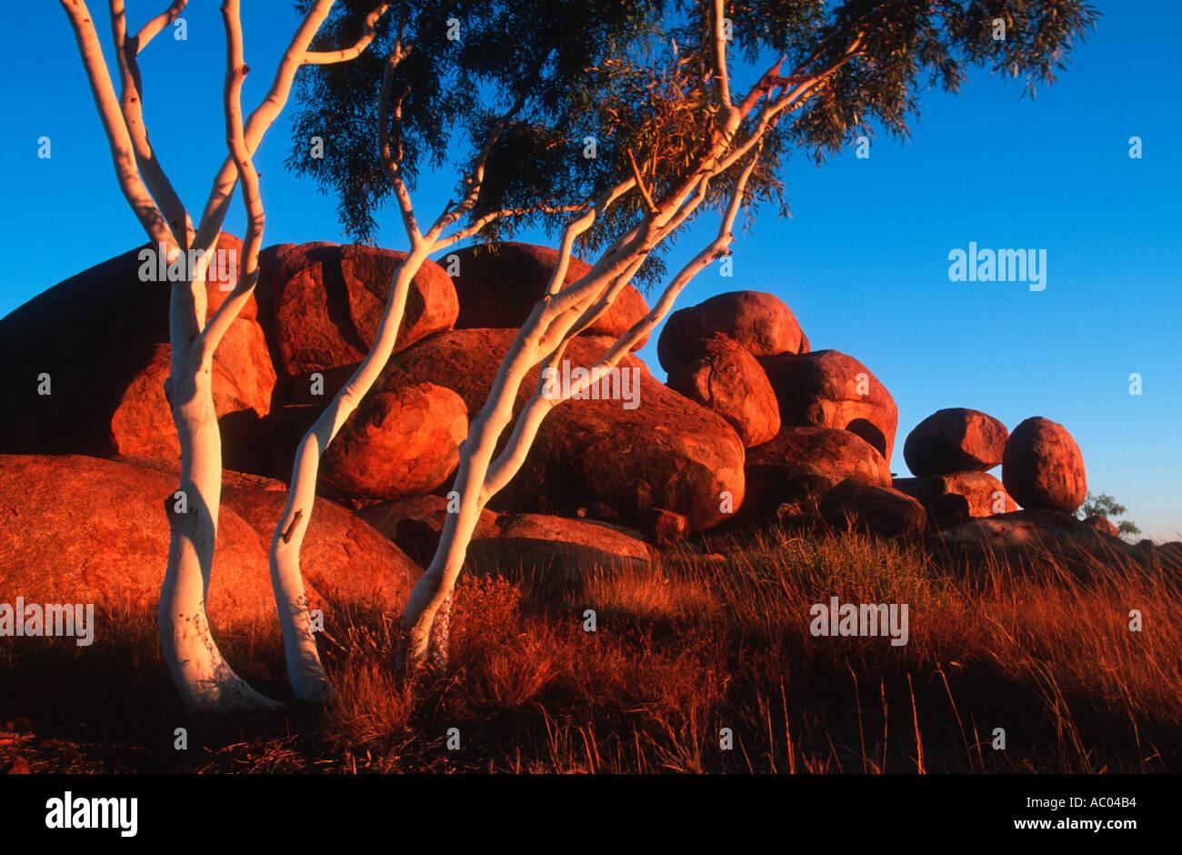 Landschaft Devils Marbles Northern Territory Australien Stockbild
