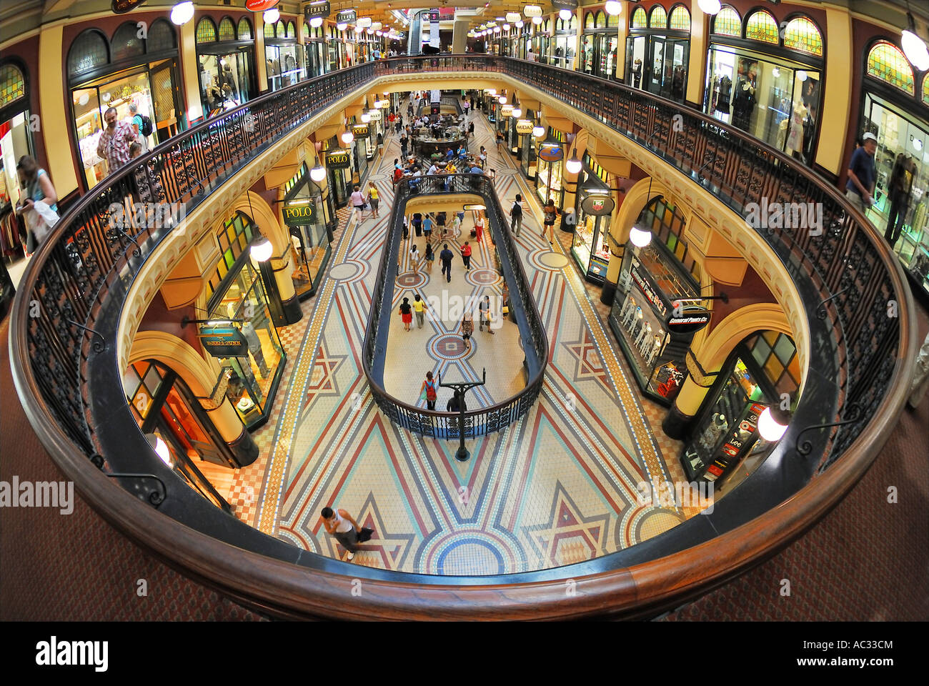 Innere des Queen Victoria Building, Australien, New South Wales, Sydney Stockbild