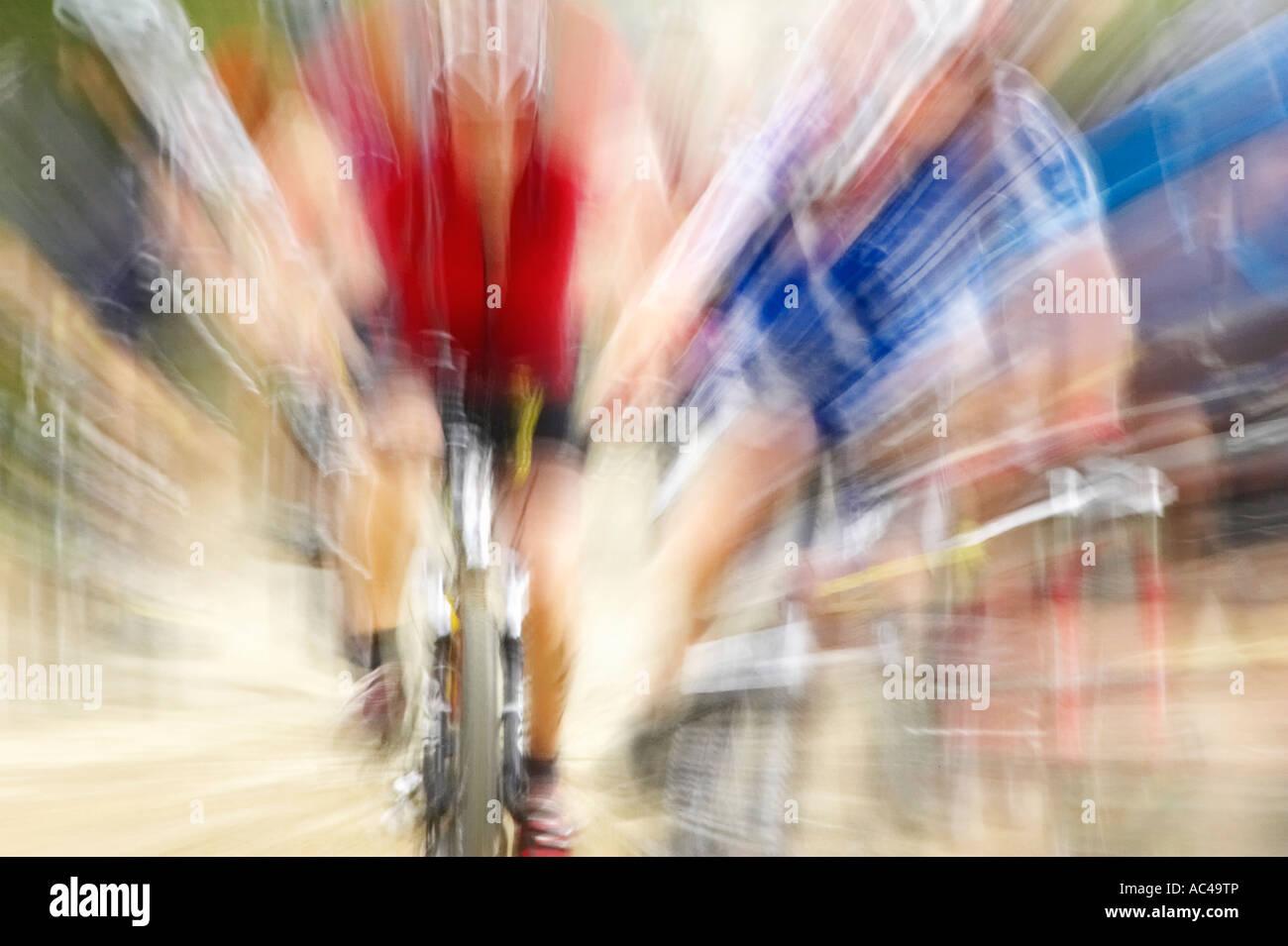 Mountain Bike Rennen Bannockburn in der Nähe von Cromwell Central Otago Neuseeland Südinsel Stockbild