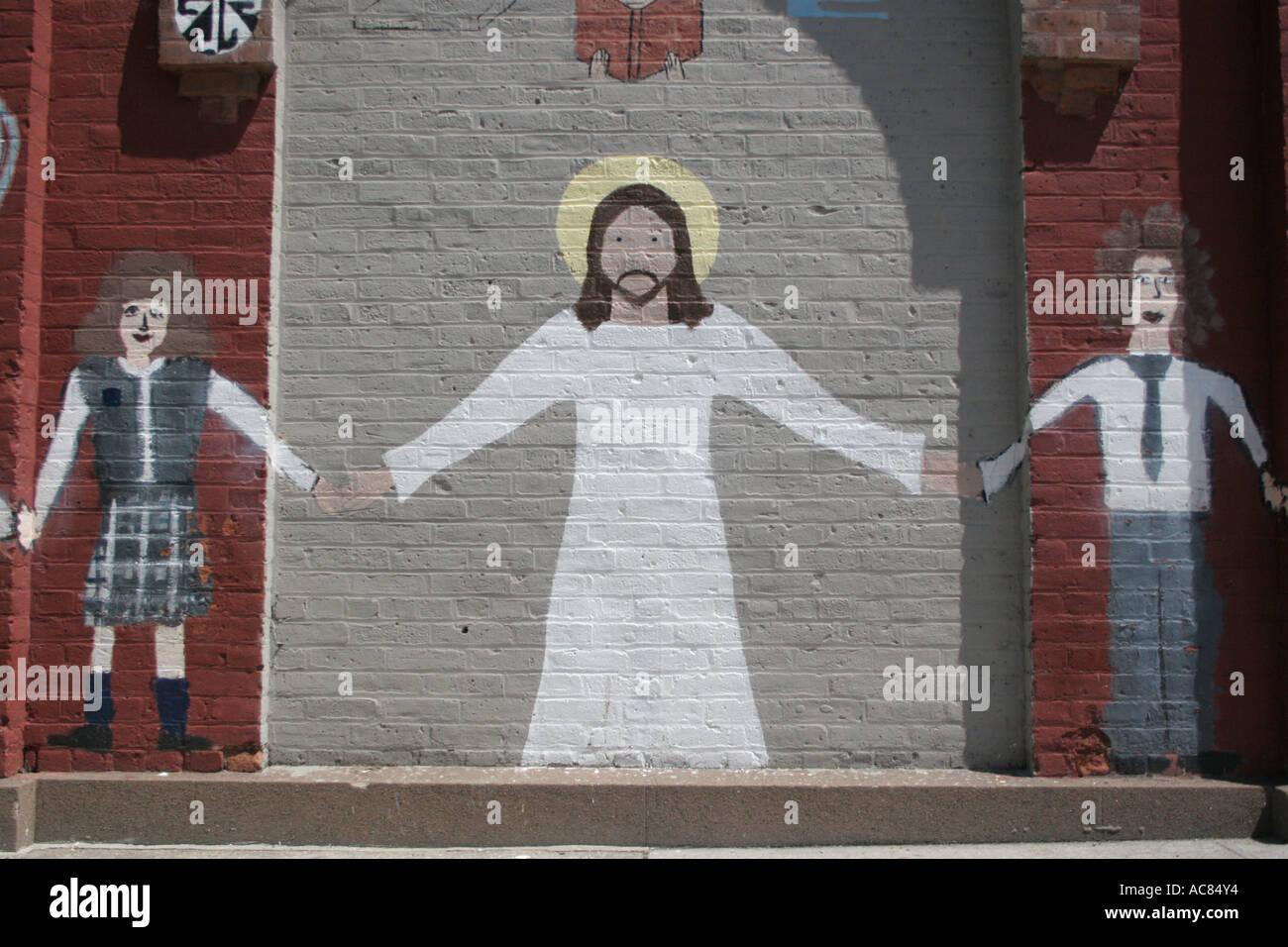 Charmant Jesus Wandbild Hände Kunst Junge Ziegel Kinder Farben Konzept Creative  Kreativität Tag Design Disco Volante Außen Mädchen Halo Halten