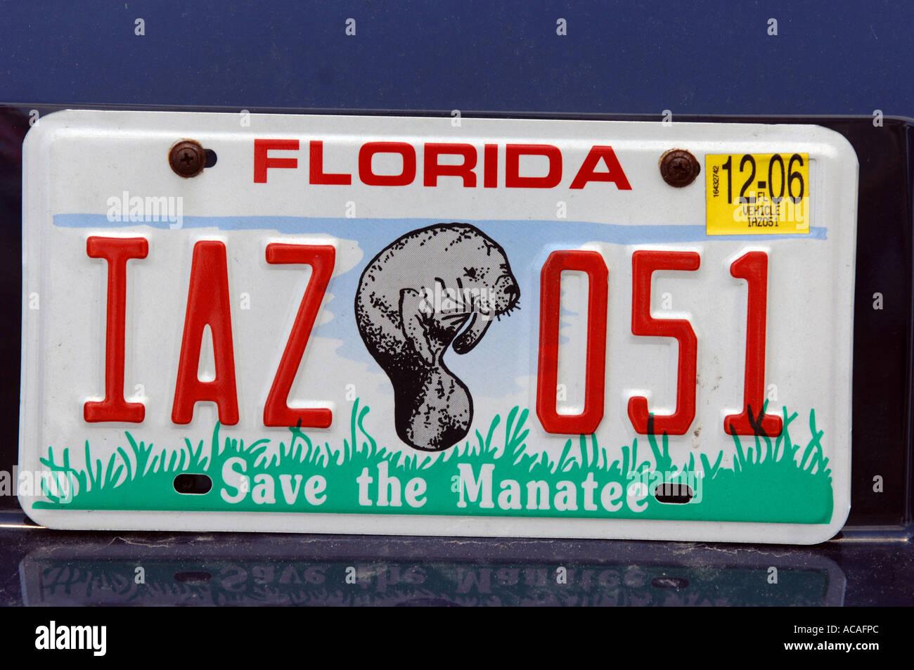 Florida Car Number Plate Usa Stockfotos & Florida Car Number Plate ...