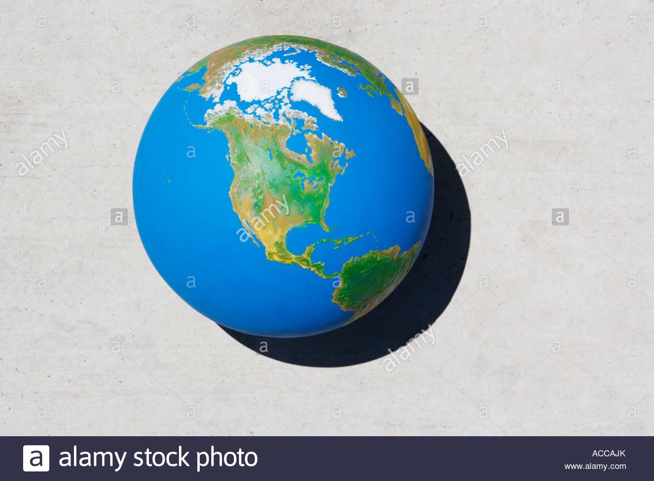 Detailansicht der Welt Stockbild