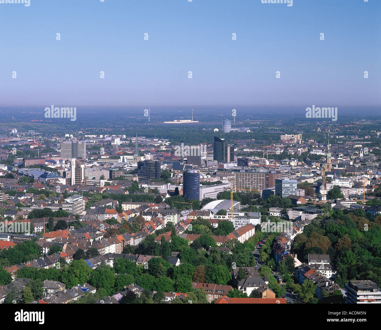 geographie reisen deutschland nordrhein westfalen dortmund blick auf die stadt. Black Bedroom Furniture Sets. Home Design Ideas