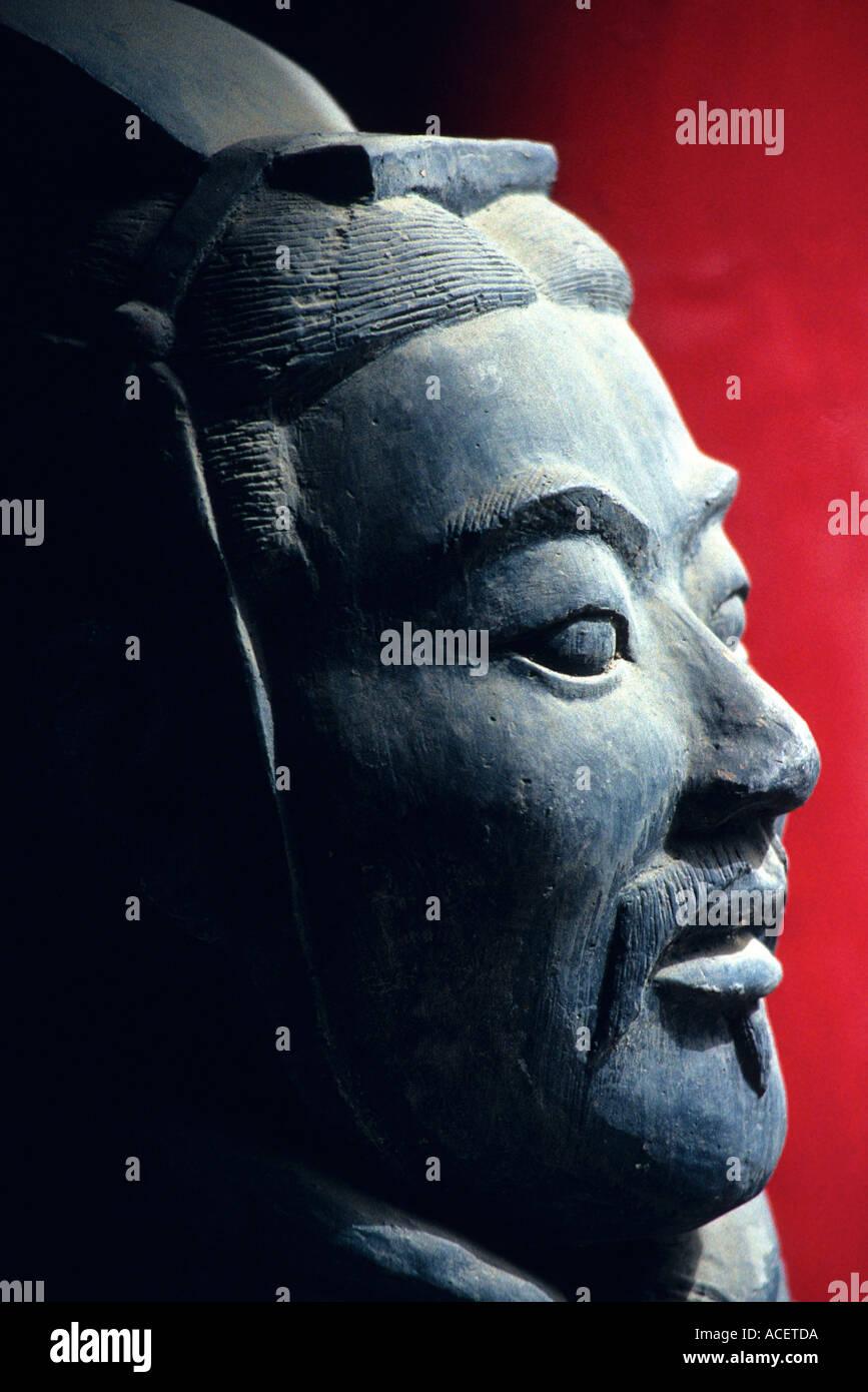 XI eine Shaanxi China Nachbildung der Terrakotta-Krieger aus der Qin-Ausgrabungen Stockbild