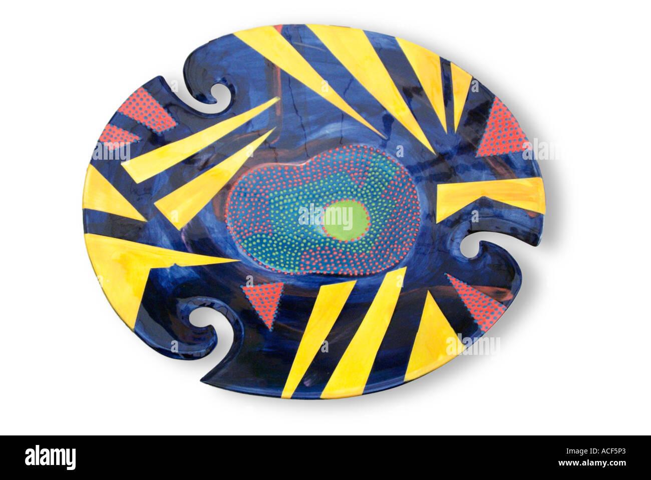 Keramik Handgefertigt Studio Kunst Keramik Platte Geometrische Uk