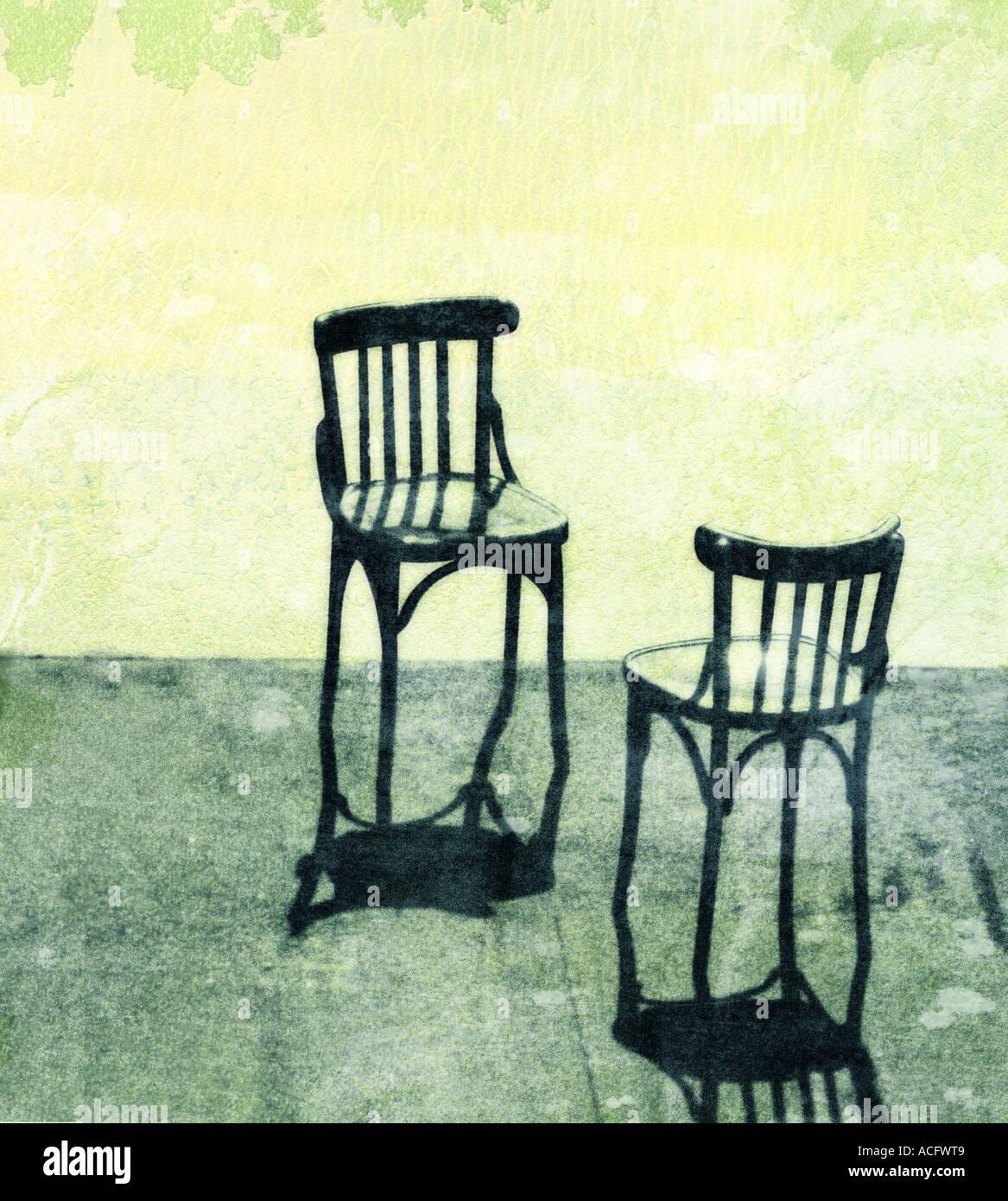Foto von zwei Stühlen Stockbild