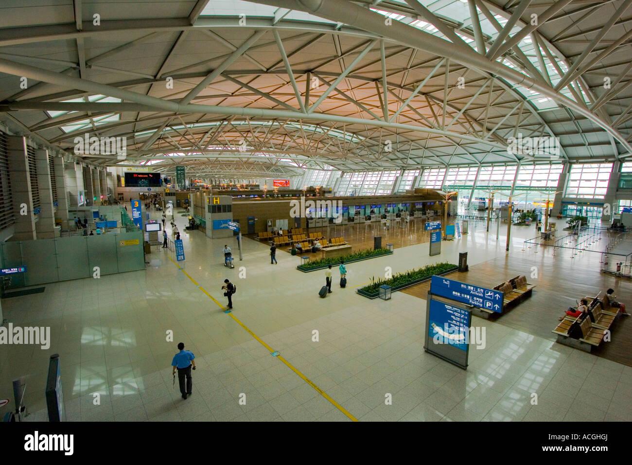 Inside Grand Incheon International Airport ICN Seoul Südkorea ...