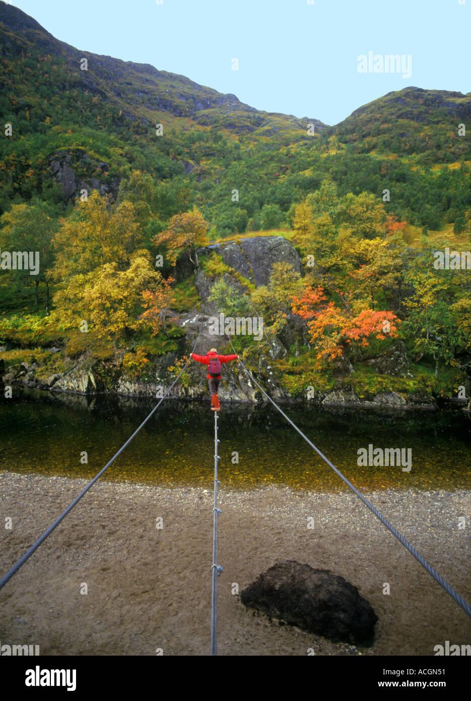 Steall Wire Bridge Stockfotos & Steall Wire Bridge Bilder - Alamy