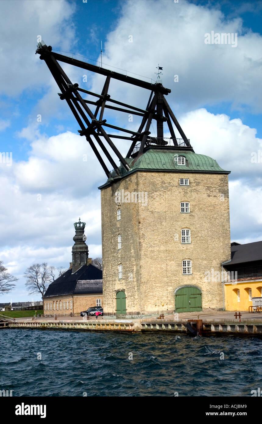 Die Marine alte hölzerne Takelage Gardinen Holmen Kopenhagen