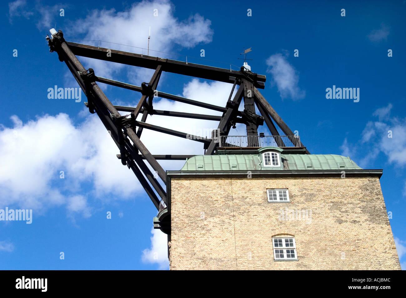 Der alte hölzerne Marine Rigging Gardinen Holmen Kopenhagen