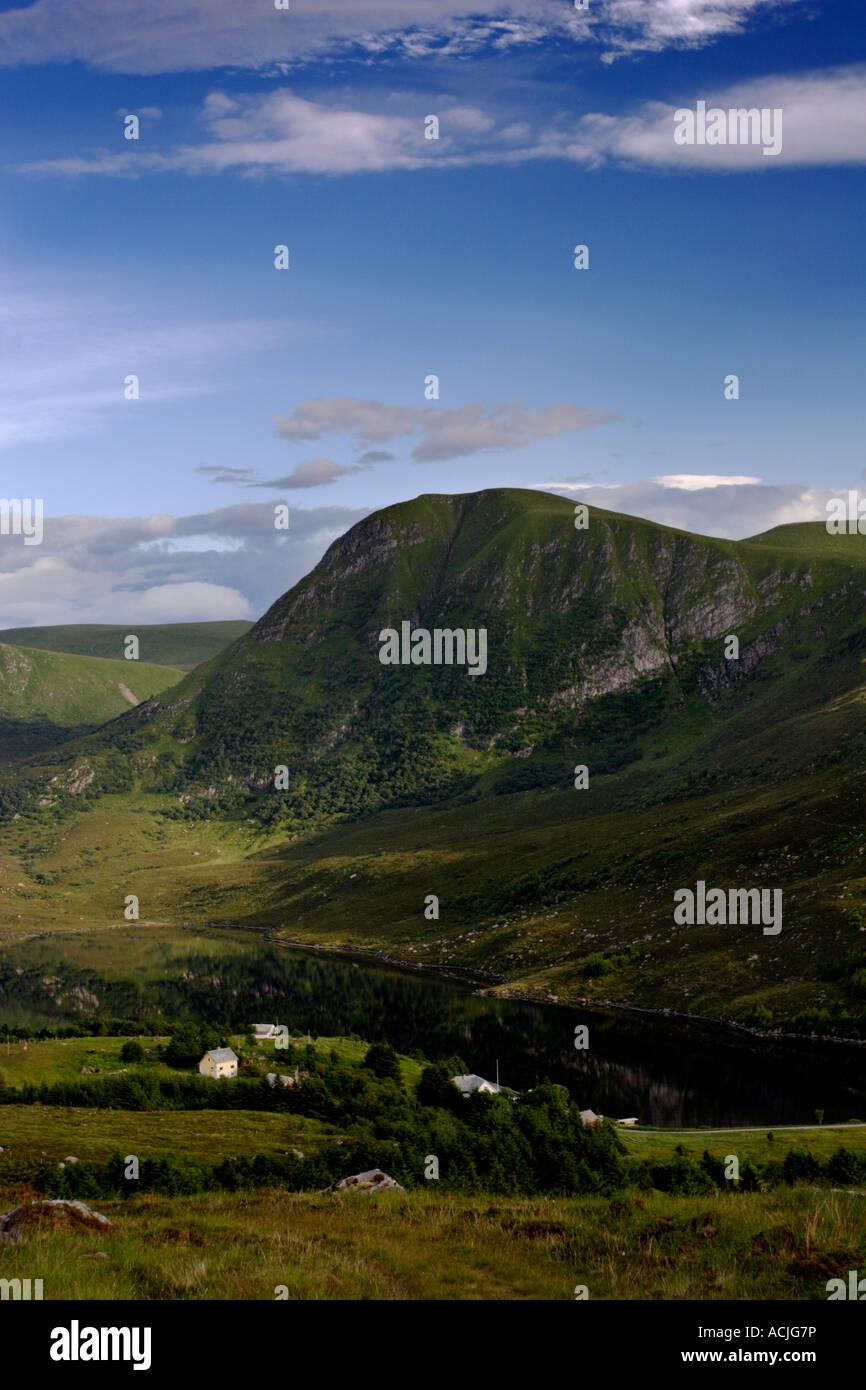 Berge und See in Norwegen Stockbild