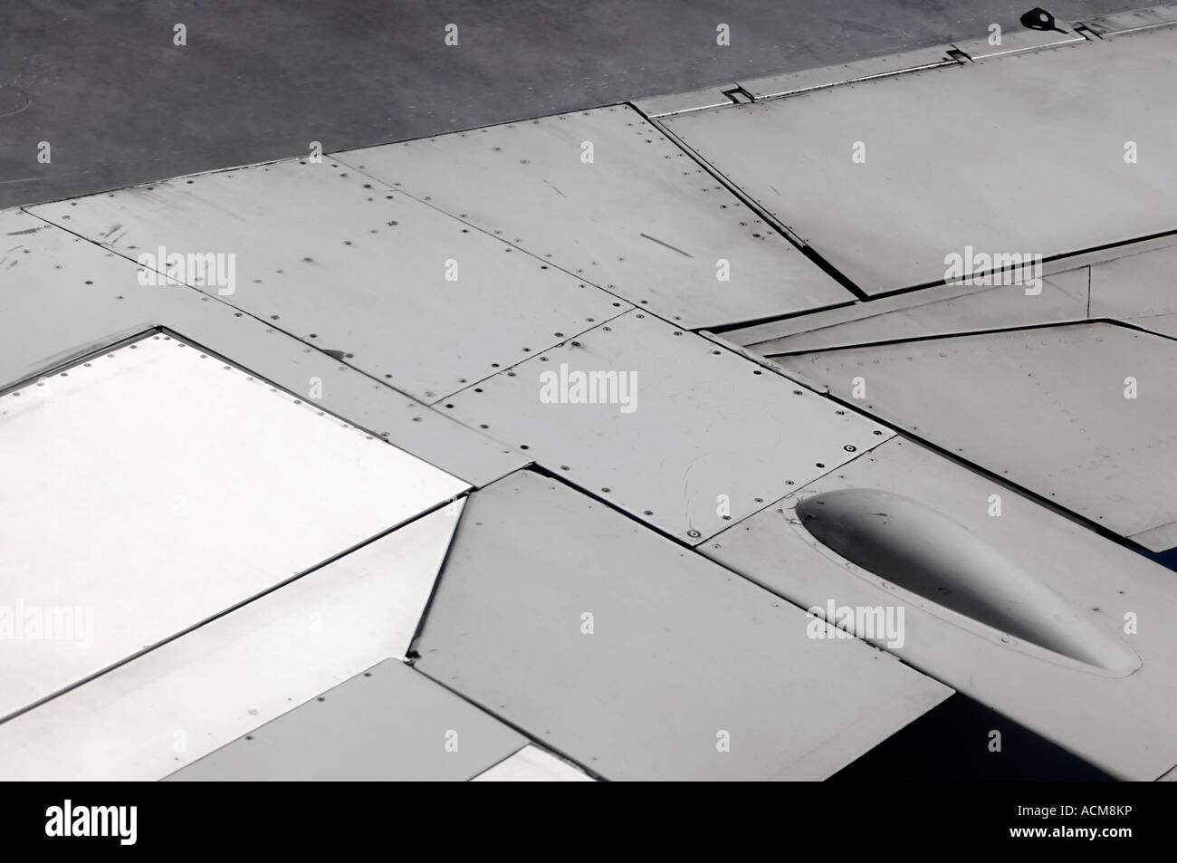 Flugzeug Flügel details Stockbild