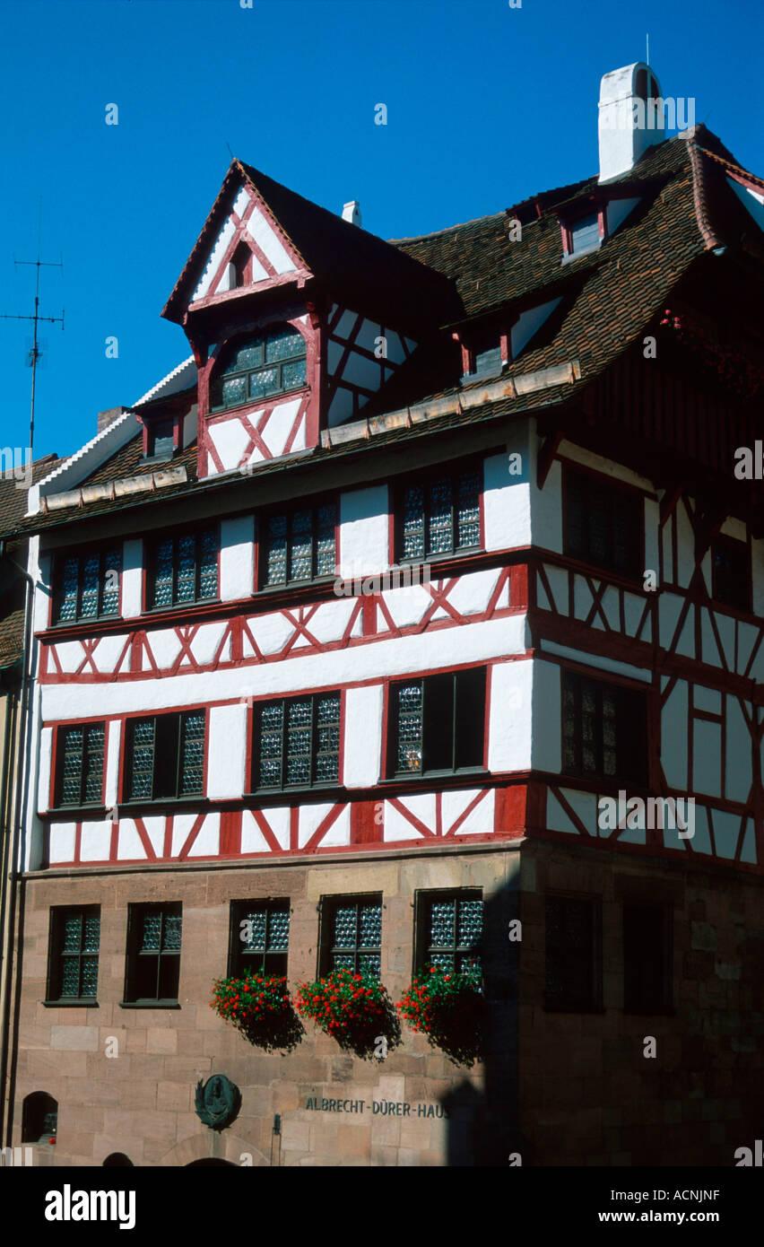 Albrecht-Dürer-Haus / Nürnberg Stockbild
