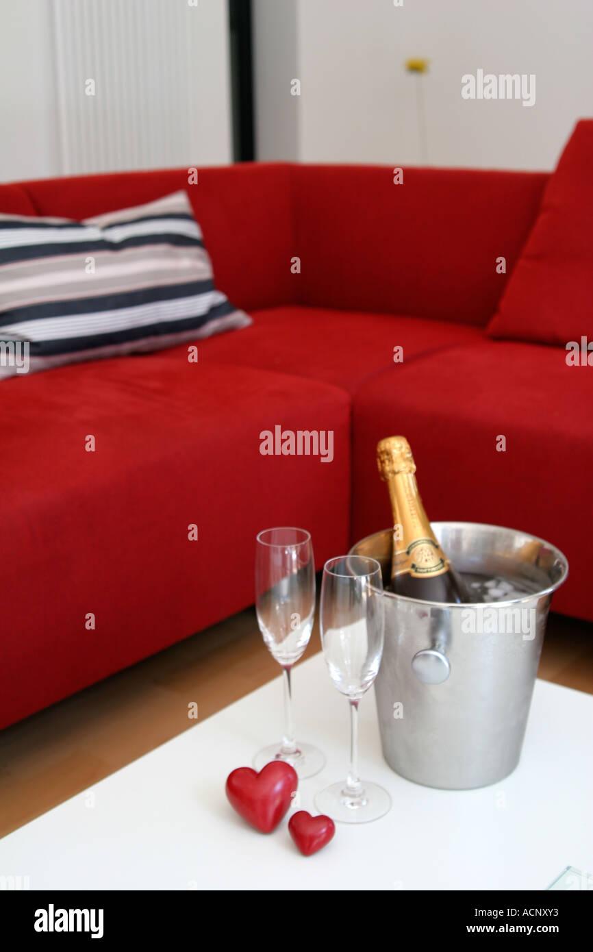 Champagner für zwei - Champagner Für zwei Stockbild