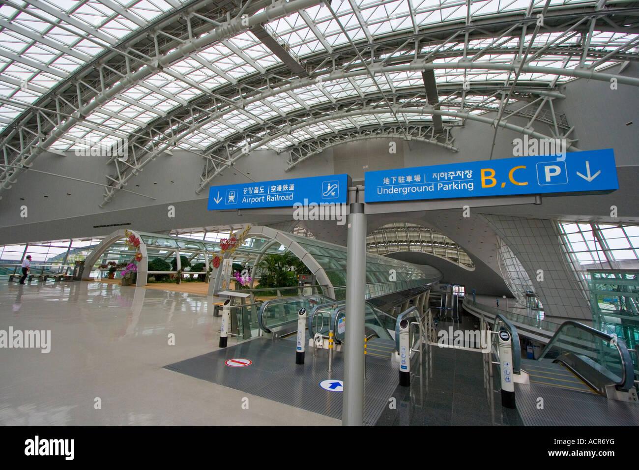 ICN Incheon International Airport AREX Flughafen Bahnhofsgebäude ...