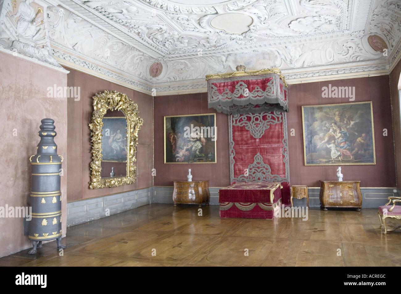 Schlafzimmer Bayerische Staatliche Galerie Museum Neue Residenz Palace Bamberg Deutschland Stockfotografie Alamy